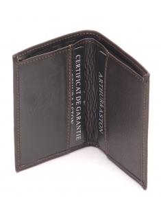 Porte cartes cuir vachette plongé et doublure polyester