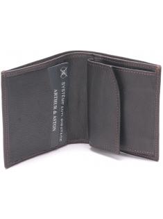 Porte monnaie et cartes cuir vachette plongé et doublure polyester