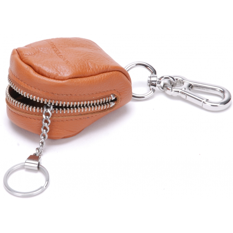 Porte monnaie porte-clé en cuir