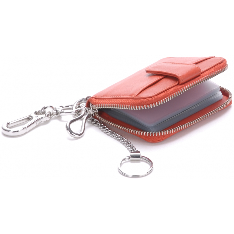 Porte clé et porte cartes cuir