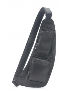 Body bag cuir vachette et doublure coton