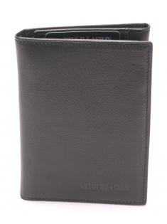 Porte papiers cuir vachette plongé et doublure polyester