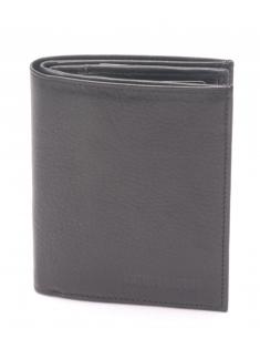 Portefeuille cuir vachette plongé et doublure polyester