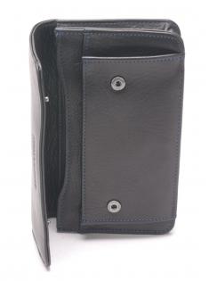 Pochette ceinture cuir vachette plongé et doublure polyester