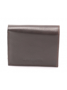Porte monnaie cuir vachette plongé et doublure polyester