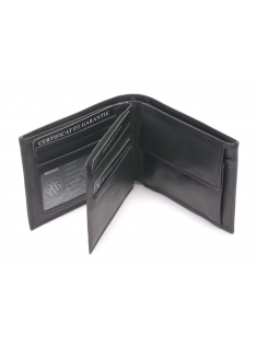 Portefeuille italien cuir vachette plongé et doublure polyester