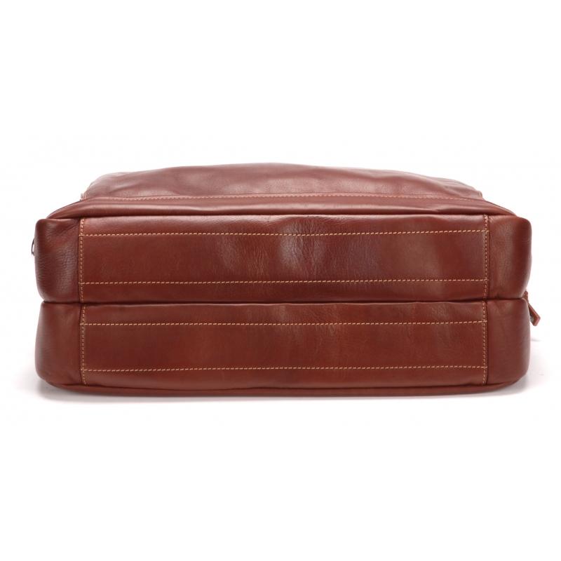 Porte document 2 soufflets cuir vachette et doublure coton