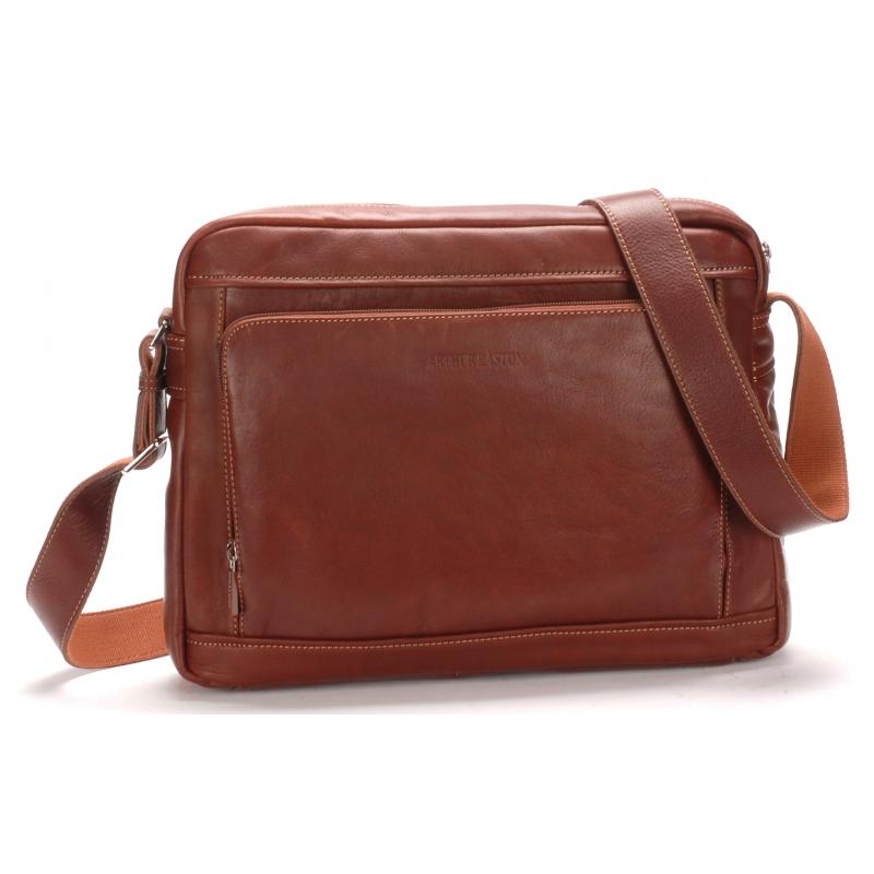 Grand sac travers cuir vachette et doublure coton
