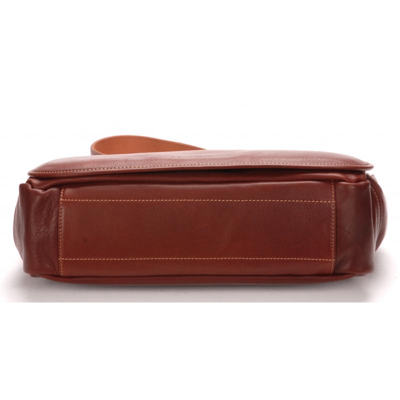 Besace messenger cuir vachette et doublure coton