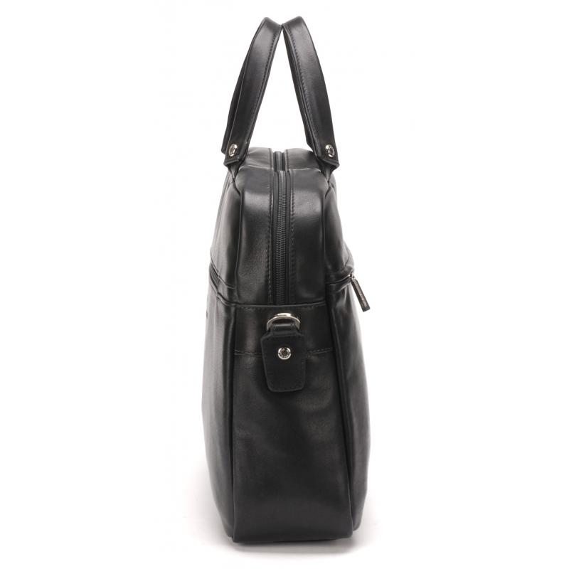 Porte-document petit format cuir Noir