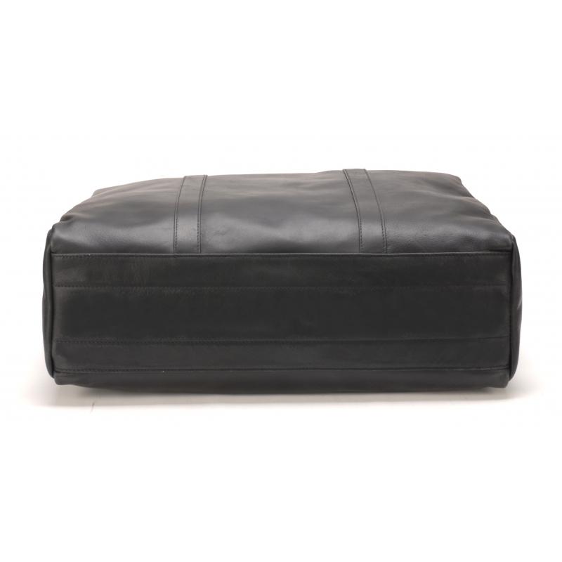 Sac de Voyage petit modèle cuir de buffle noir
