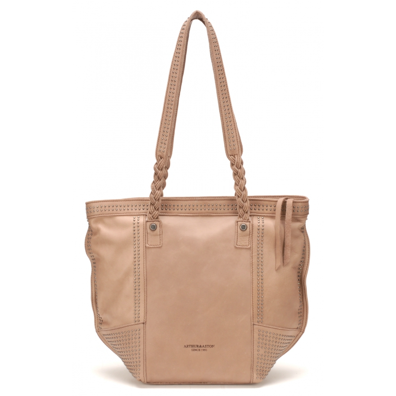 Sac Shopping Ashley Cuir Taupe