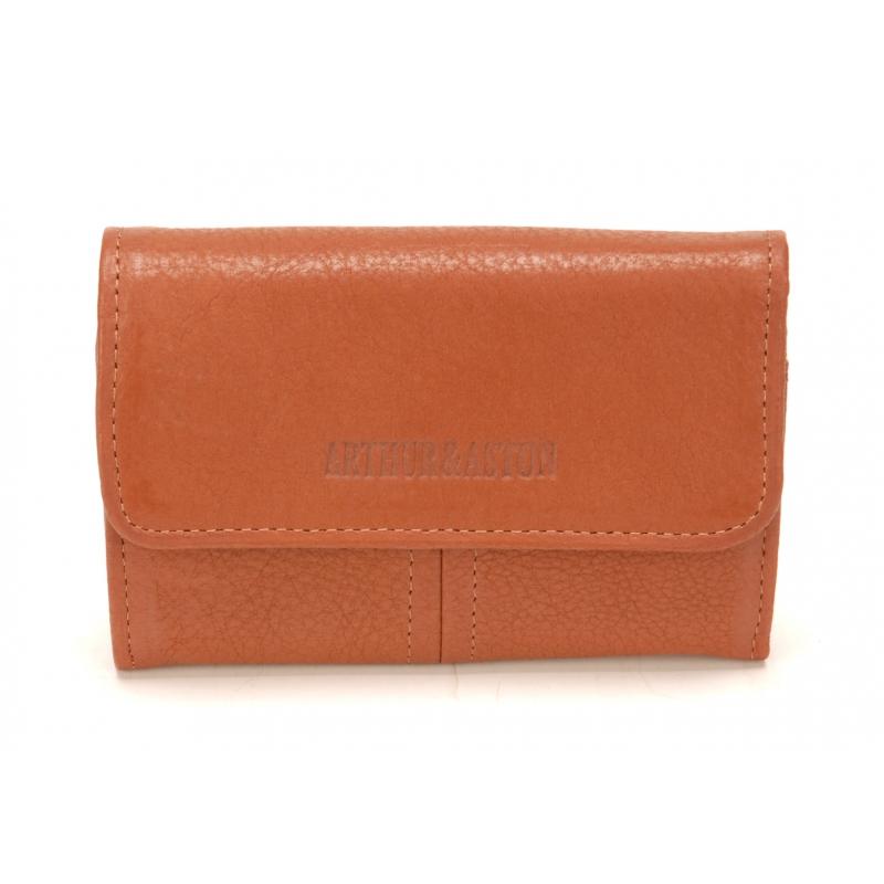 6586a9b393d Porte Monnaie et Cartes Camille Cuir Cognac - La boutique Arthur Aston