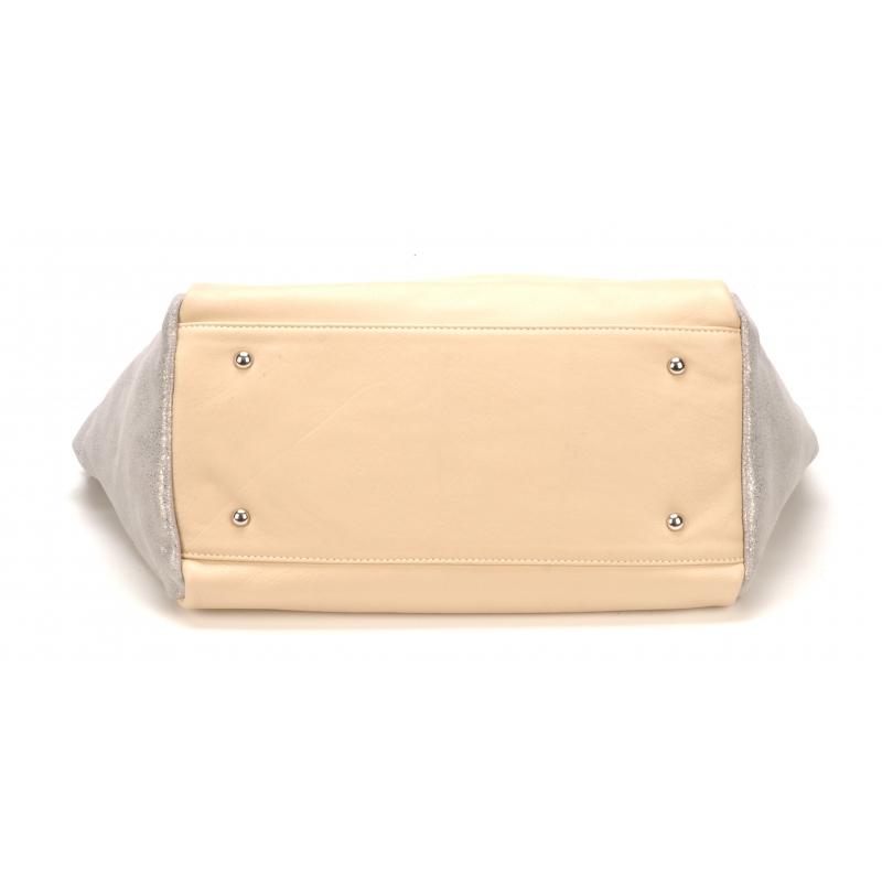 Sac à main moyen modèle Essra cuir bicolore
