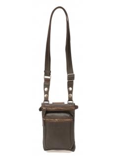 Pochette porté travers ou ceinture cuir de buffle