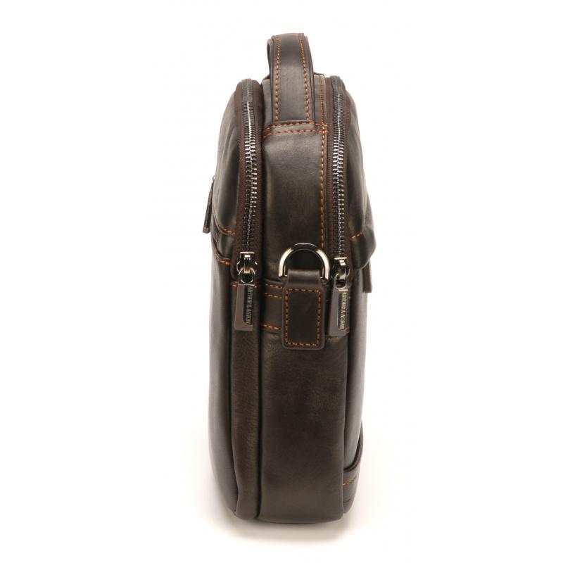 Besace porté travers moyen format Pablo cuir vachette plongé