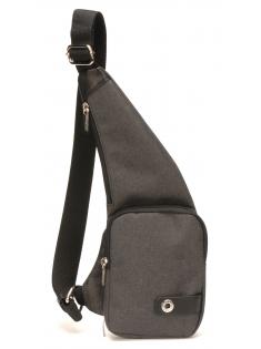 Body bag en toile polyester garniture cuir