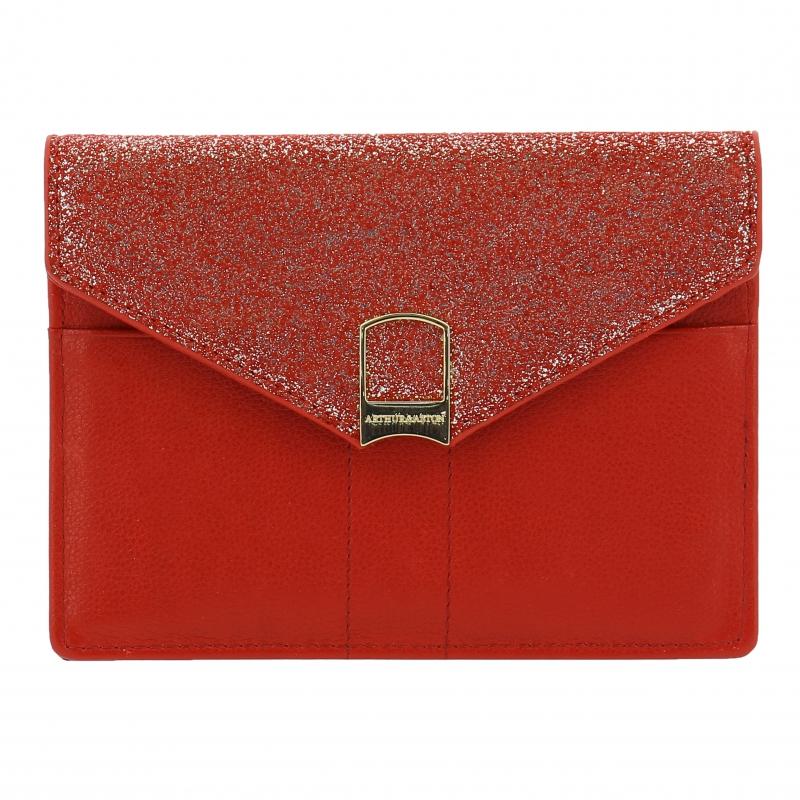 Porte-papiers Glitter cuir de vachette