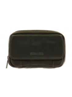 Pochette ceinture à pression cuir gras