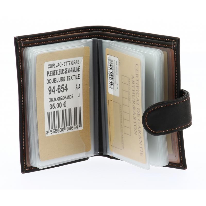 Porte-cartes Louis format mini cuir gras