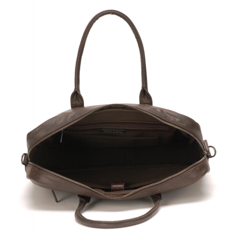 Porte document cuir vachette Noir