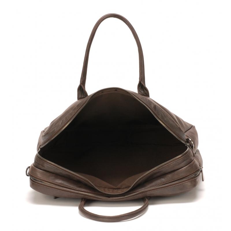 Porte document grand format cuir de vachette Noir