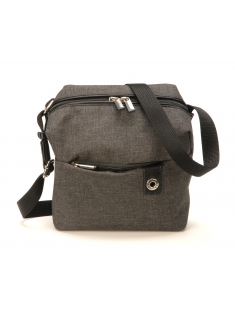 Petit sac travers Aaron en toile polyester garni cuir