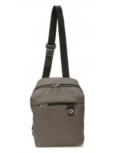 Body Bag Aaron en toile polyester garni cuir