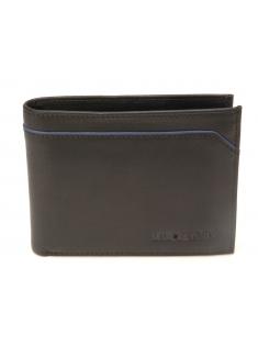 Portefeuille italien Hugo en cuir plongé