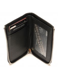 Porte cartes zippé James en cuir