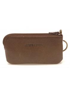 Porte-monnaie et clé zippé Julio en cuir