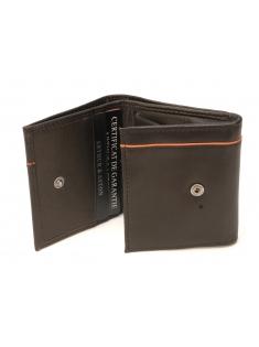 Porte-cartes et monnaie italien Hugo en cuir plongé