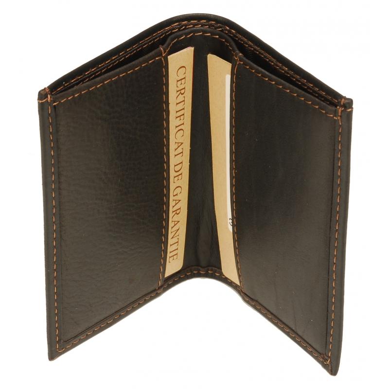 Porte-cartes Louis cuir gras