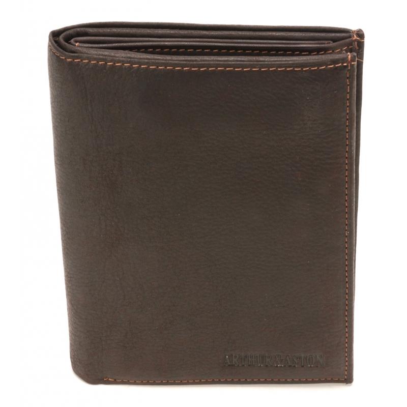Grand portefeuille Louis en cuir gras