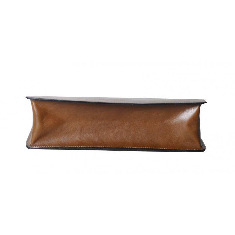 Serviette 1 soufflet cuir vachette